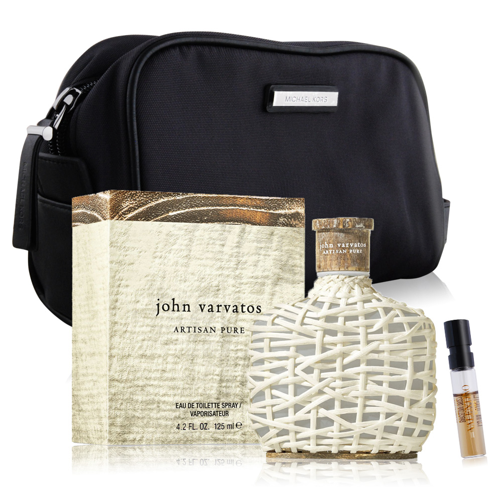 John Varvatos 工匠純淨男性淡香水125ml+MK 紳士盥洗包-贈針管