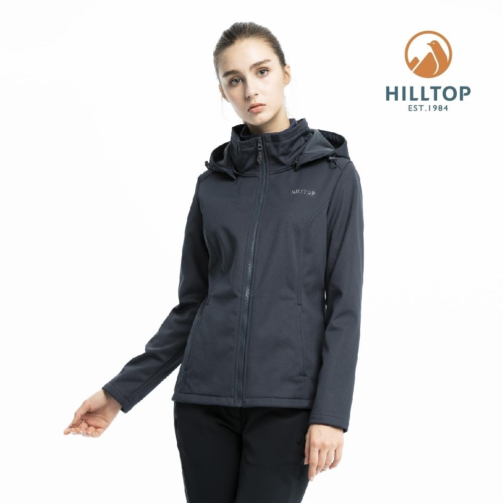 【hilltop山頂鳥】女款防風透氣保暖刷毛外套H22FV5深灰色