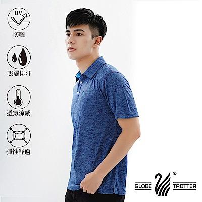 【遊遍天下】MIT男款吸濕排汗抗UV速乾機能POLO衫GS10023寶藍