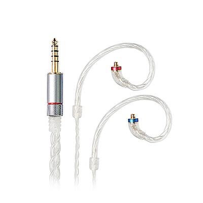 FiiO LC-4.4C純手工編織高純度單晶銅鍍銀MMCX耳機升級線(4.4mm)