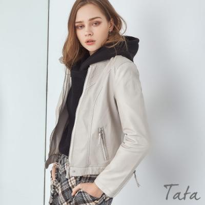 立領皮外套 共二色 TATA-F