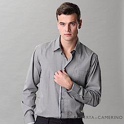 ROBERTA諾貝達 台灣製 嚴選穿搭 簡約格紋長袖襯衫 黑白