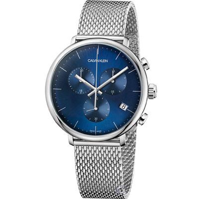 Calvin Klein 巔峰系列復刻計時腕錶(K8M2712N)藍/43mm
