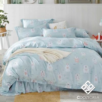 COOZICASA熊物語 雙人四件式吸濕排汗天絲兩用被床包組