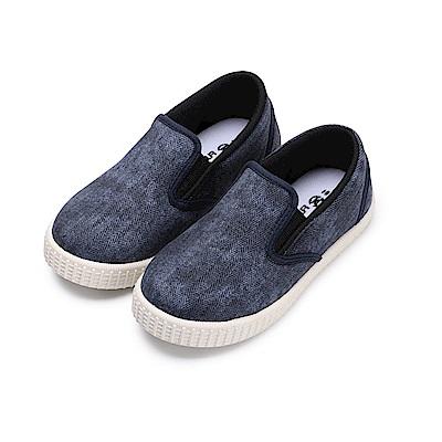 BuyGlasses 潮流感兒童懶人鞋-深藍