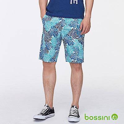 bossini男裝-印花時尚短褲04淺藍