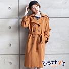 betty's貝蒂思 翻領雙排釦造型長版大衣(駝色)