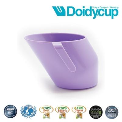 【英國Doidy cup】彩虹學習杯/訓練杯/刷牙杯-紫羅蘭(專利造型設計 喝水看的見)