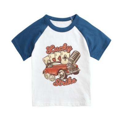 baby童衣 獨家自印 春夏插肩短袖印花上衣 66251
