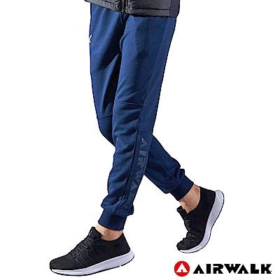 【AIRWALK】男款運動休閒長褲-深藍色