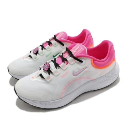 Nike 慢跑鞋 React Escape RN 運動 女鞋 輕量 透氣 舒適 避震 路跑 健身 白 粉 DD7021102