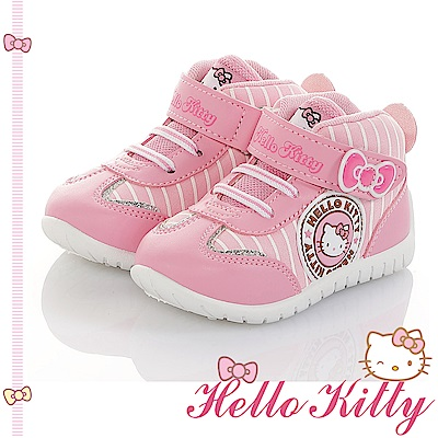 HelloKitty童鞋 輕量減壓抗菌防臭休閒高筒鞋-粉