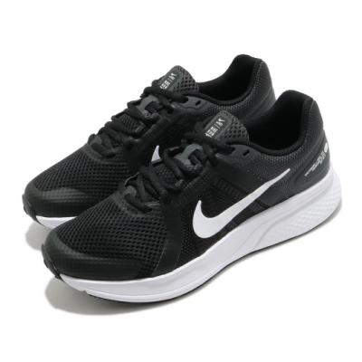 Nike 慢跑鞋 Run Swift 2 運動 女鞋 輕量 透氣 舒適 避震 路跑 健身 黑 白 CU3528004