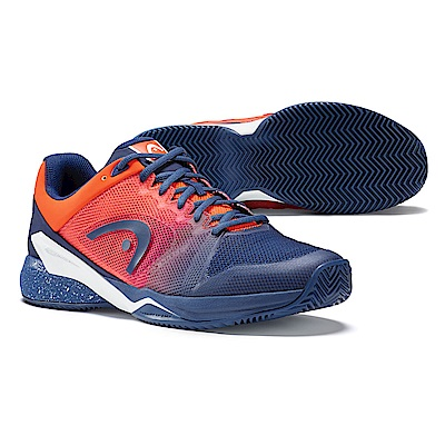 HEAD Revolt Pro 2.5 紅土 男網球鞋-藍/火焰橘 273018