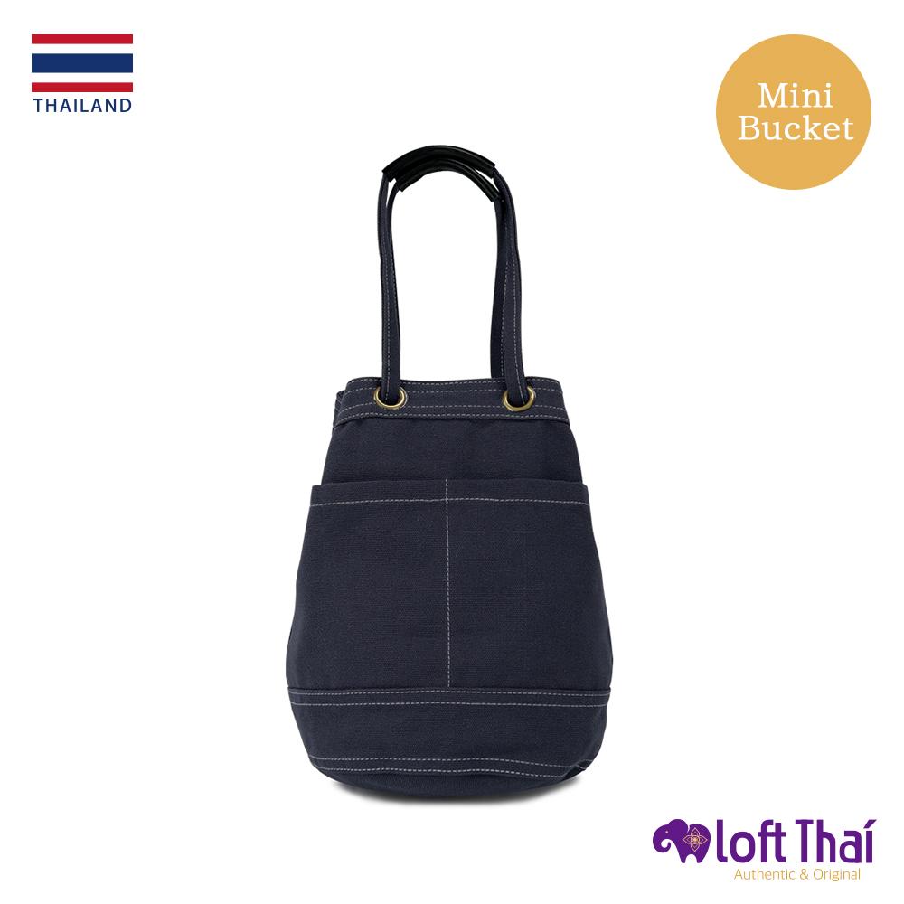 Loft THAI   泰.兩用帆布水桶包(小)   Navy @ Y!購物