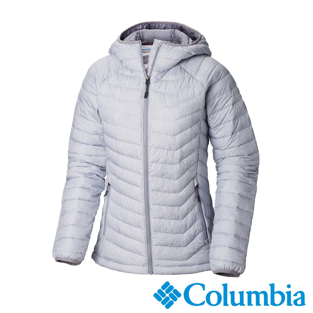 Columbia哥倫比亞 女款- Omni-HEAT鋁點保暖連帽外套-灰藍