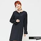 H:CONNECT 韓國品牌 女裝-簡約束口袖洋裝-黑