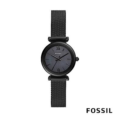FOSSIL CARLIE MINI 黑色不鏽鋼女錶