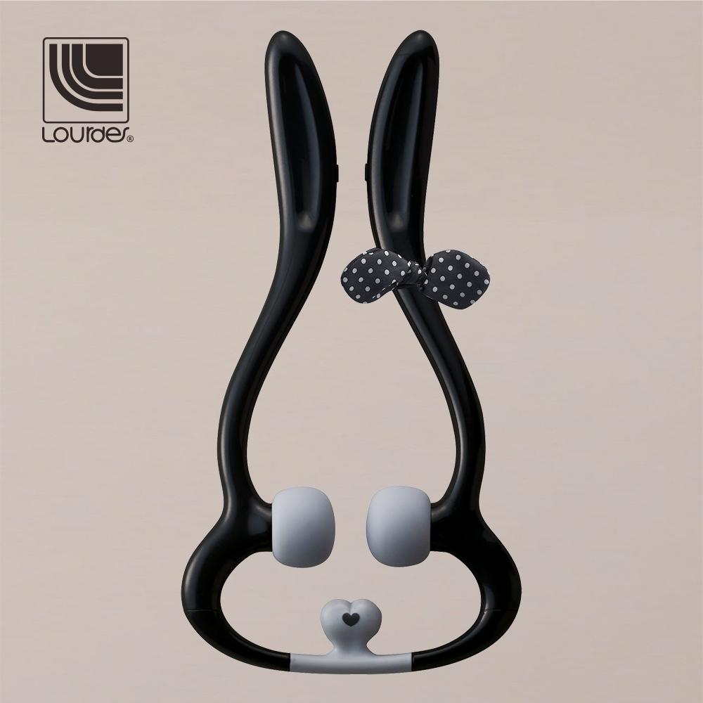 Lourdes兔子造型手持震動肩頸按摩器(黑色)