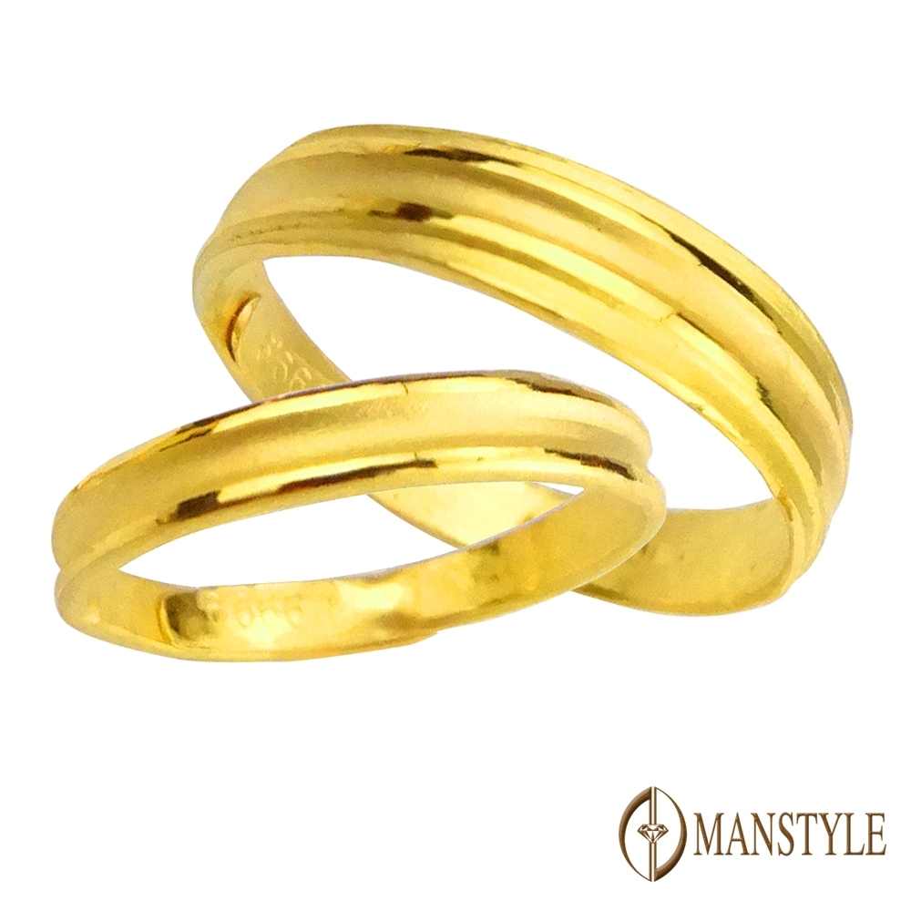 MANSTYLE 簡約 黃金對戒 (約1.50錢)