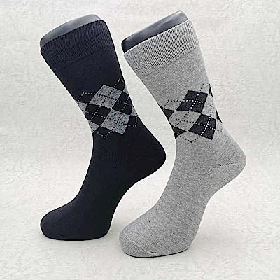 三合豐 ELF 男性竹炭菱格抗菌除臭休閒襪-6雙