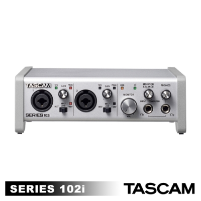 TASCAM SERIES 102I 錄音介面 10 IN/2 OUT USB Audio/MIDI interface (台灣總代理公司貨)