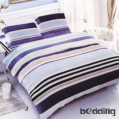 BEDDING-活性印染5尺雙人薄床包涼被組-條紋主義