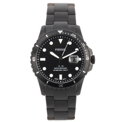 FOSSIL FB-01日期黑錶框黑色不銹鋼腕錶42mm(FS5659)