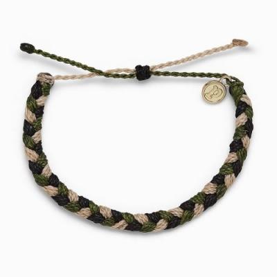 Pura Vida 美國品牌 FOR THE TROOPS 照護退伍軍人粗線編織 慈善系列可調式衝浪手環