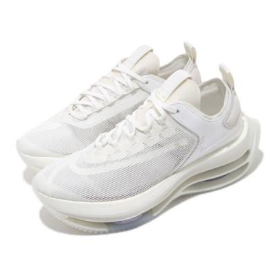 Nike 休閒鞋 Zoom Double Stacked 女鞋 雙層氣墊 舒適 避震 增高 球鞋 穿搭 白 藍 CI0804100