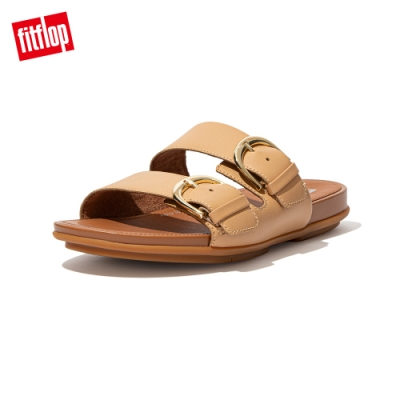 FitFlop GRACCIE SLIDES 皮革雙帶涼鞋 女(胭脂裸膚)