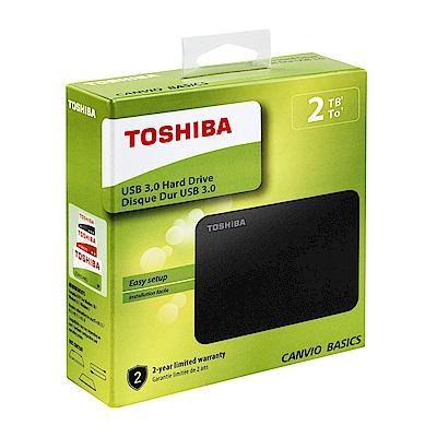 (時時樂)TOSHIBA A3 2TB 2.5吋行動碟 黑靚潮III
