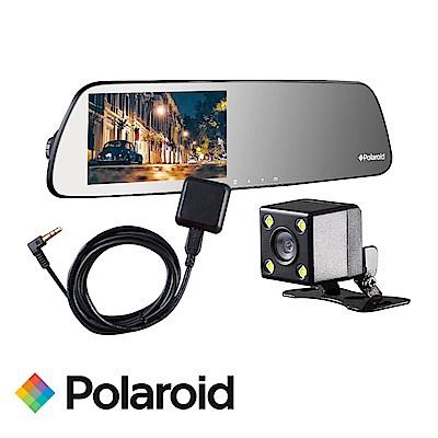 寶麗萊 DS502GS+GC2 SONY雙鏡頭行車紀錄器+GPS測速 後鏡頭720P-快