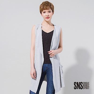 SNS 都會浪女開襟長版針織罩衫(2色)