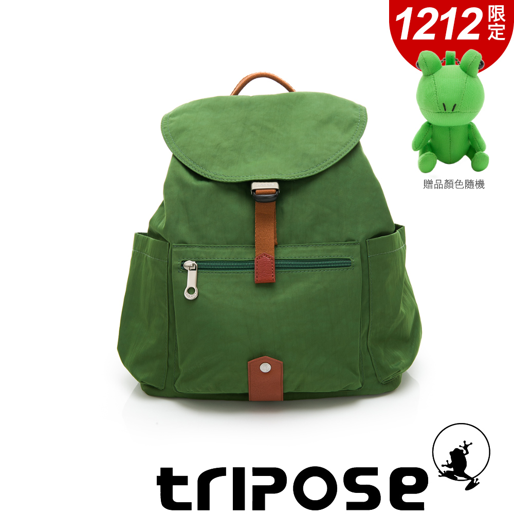 tripose MEMENTO系列微皺尼龍經典輕量後背包(小) 草地綠
