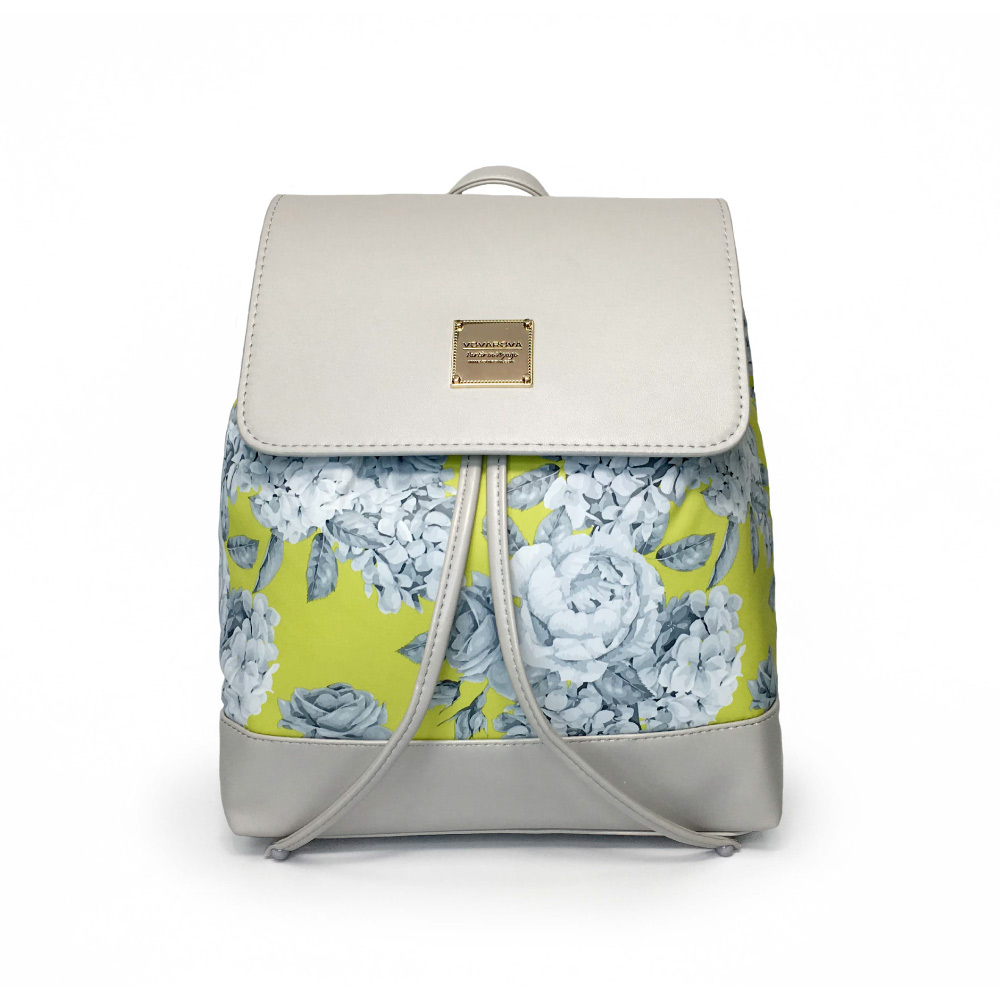 VOVAROVA空氣包-翻蓋束口後背包-花漾 • 黃