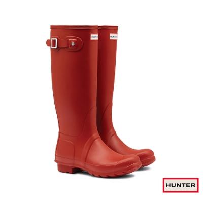 HUNTER - 女鞋-霧面長靴 - 紅