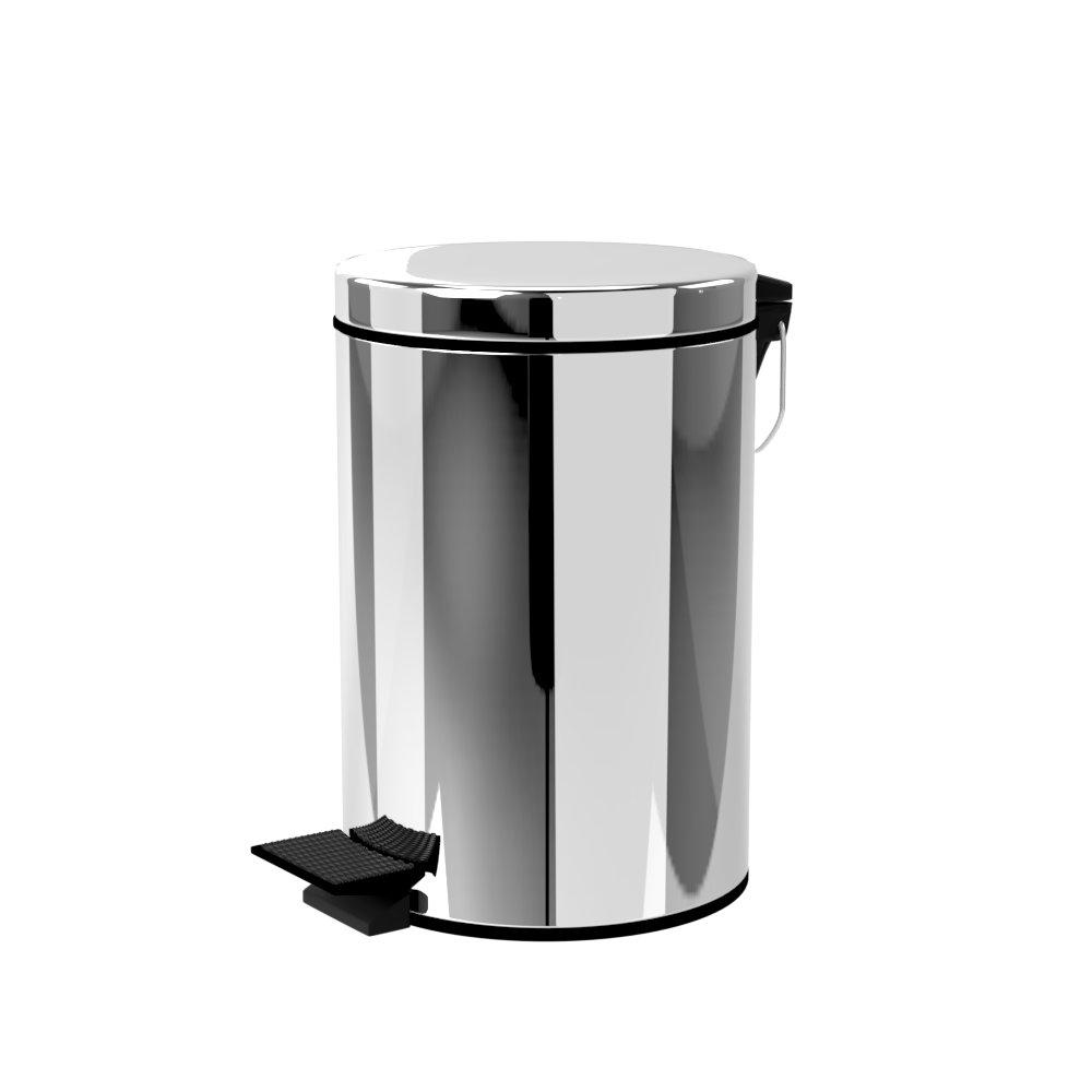 TRENY 加厚 緩降 不鏽鋼垃圾桶 8L