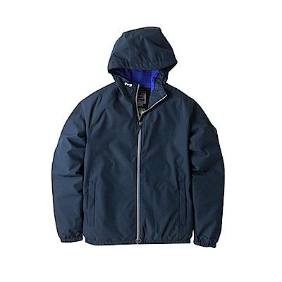 Timberland 男款短版深靛藍外套防水連帽休閒外套|A1LRG