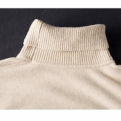 100%羊毛高領毛衣針織衫-設計所在