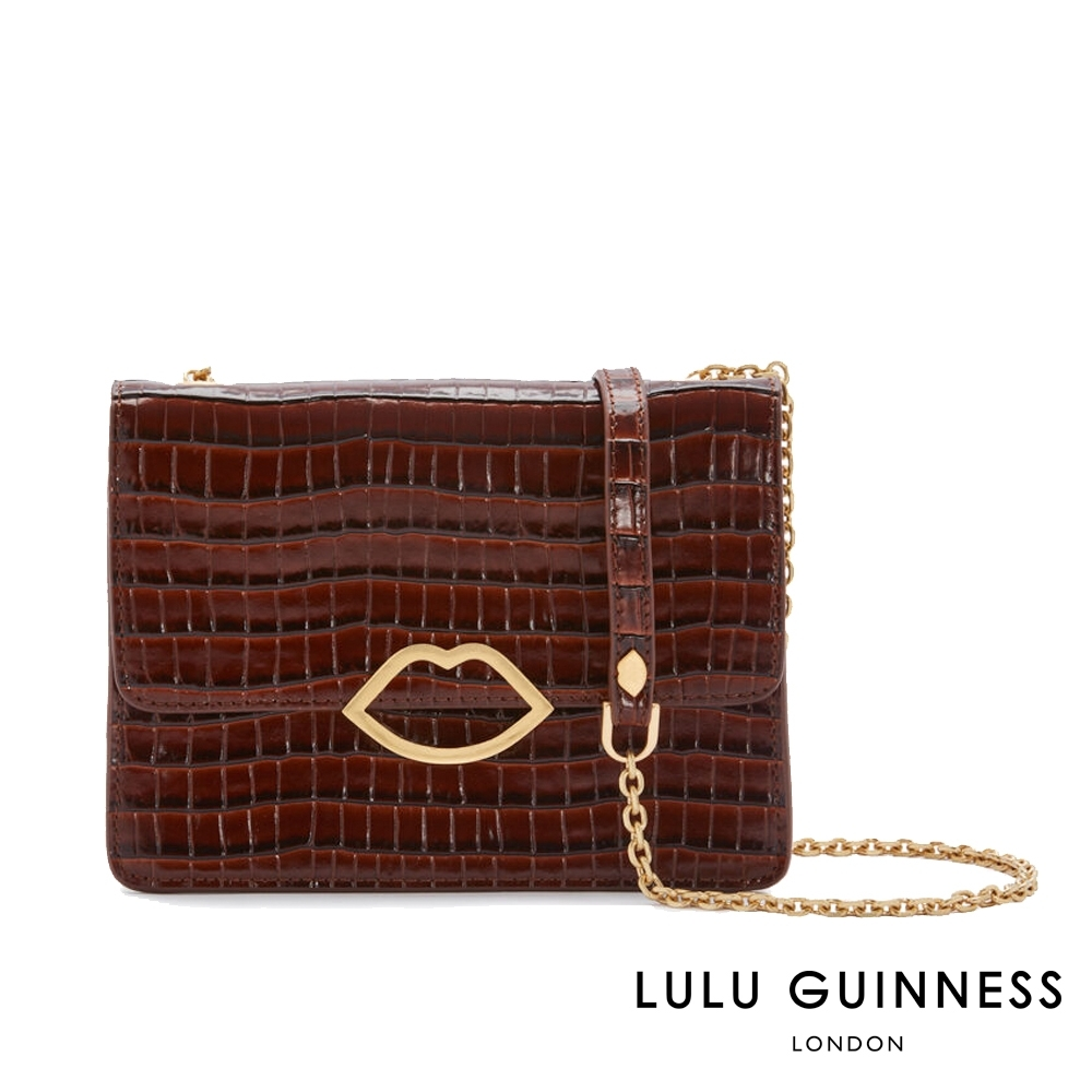 LULU GUINNESS POLLY 手拿/側背包 (棕) product image 1