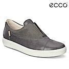 ECCO SOFT 7 LADIES拼接牛皮雙色休閒鞋 女-灰
