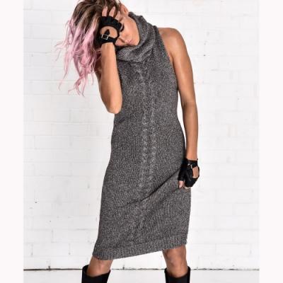OneTeaspoon 無袖高領針織洋裝 KNIT DRESS -女(灰)