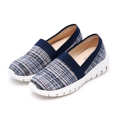 G.Ms. MIT系列-精品小香風毛呢厚底樂福鞋-藍色