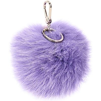 FURLA BUBBLE 狐狸毛球吊飾(水晶紫)
