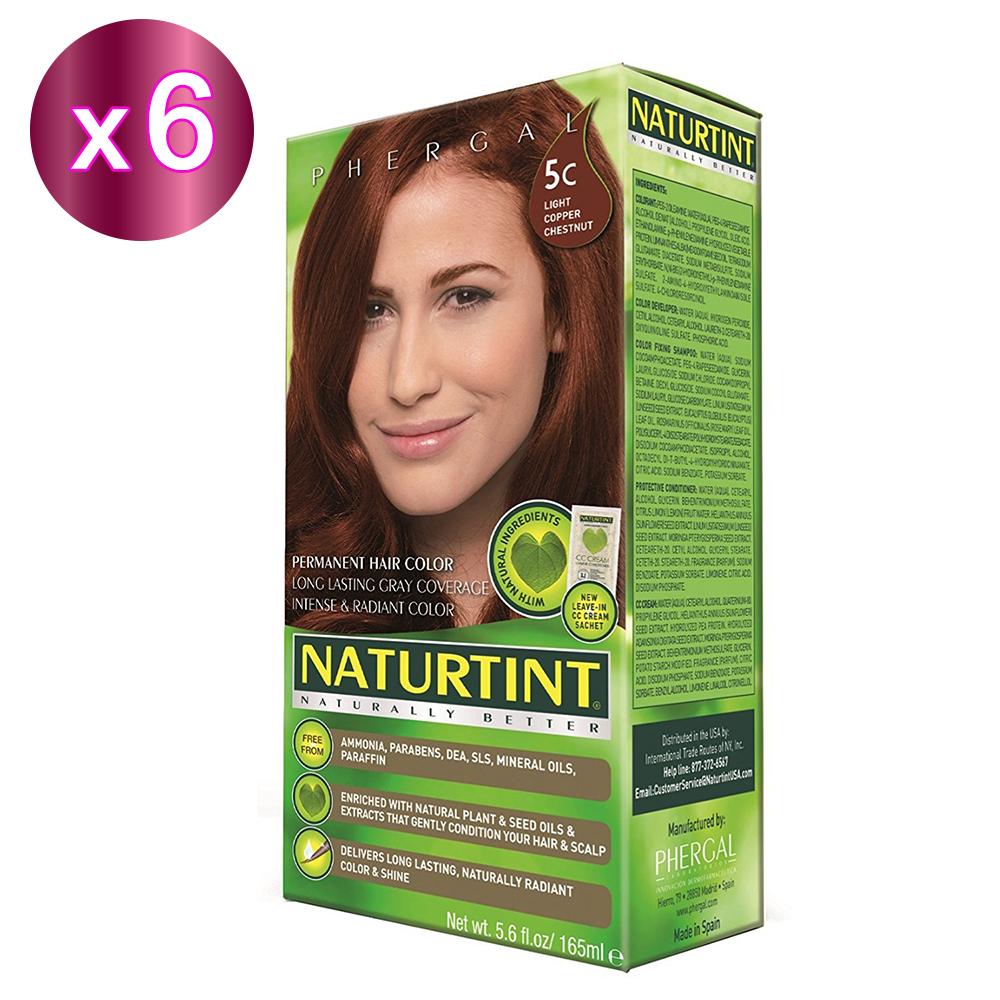 NATURTINT 赫本染髮劑 5C 銅褐色(6盒裝) (155ml/盒)