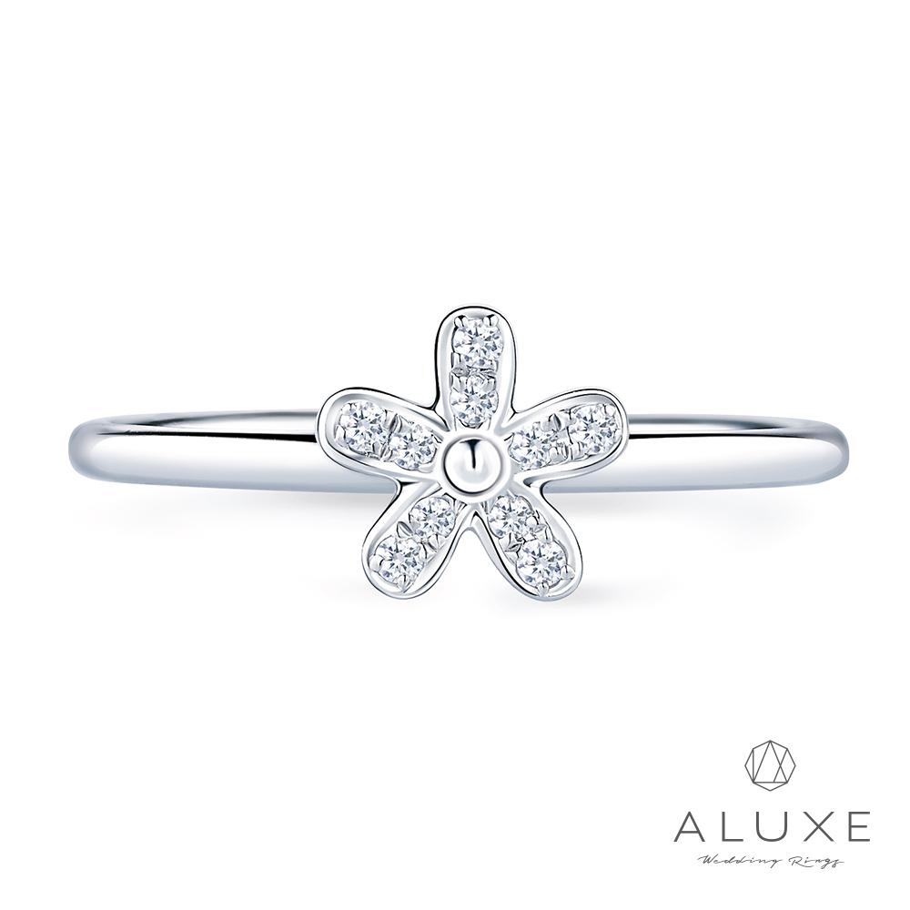 A-LUXE 亞立詩 18K金Lily鑽石線戒