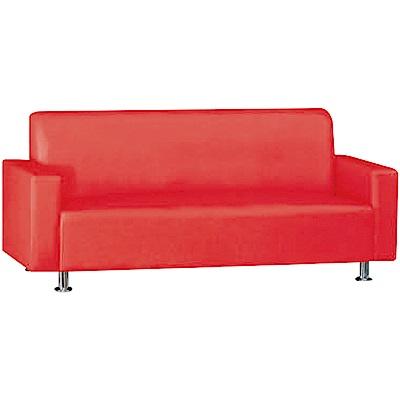 綠活居 巴迪時尚皮革三人座沙發椅(三色可選)-180x73x80cm免組