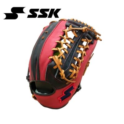 SSK  KPG250 SERIES 棒壘手套(藍紅標)  黑/紅   KPG250-9020I