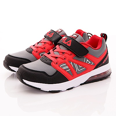 FILA頂級童鞋款 MD輕量慢跑款 FO10R-022黑紅(中大童段)0